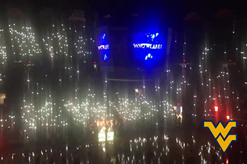 Virginia at West Virginia light show by CUE Audio